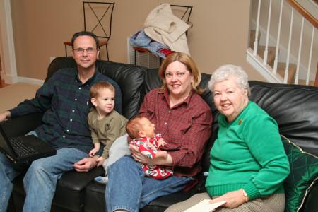 Dad, Owen, Ivan, Mom, and Grandma