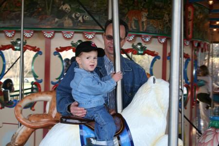 Riding the Wild Animal Carousel