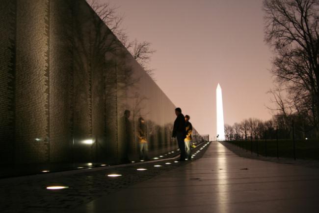 Vietnam Wall and Washington Memorial